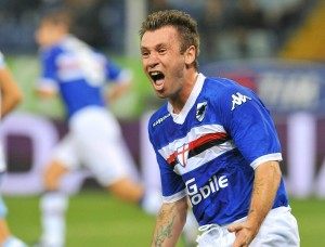 epa02345102 Sampdoria Genoa forward Antonio Cassano reacts during the Italian Serie A soccer match against SSC Napoli at 'Luigi Ferraris' stadium in Genoa, Italy, 19 September 2010. Napoli won 2-1. EPA/LUCA ZENNARO